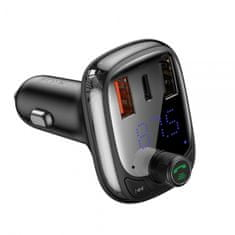 BASEUS Locomotive PRO avto polnilec, Bluetooth, FM oddajnik, MP3 predvajalnik