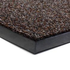 FLOMA Tmavě hnědá textilní zátěžová čistící rohož Catrine - 200 x 400 x 1,35 cm