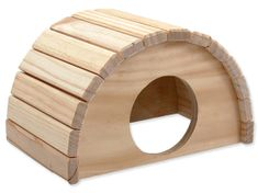 SMALL ANIMAL Domek půlkruh dřevěný 24 x 17 x 15 cm