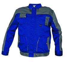 Max Evolution pánská tenká montérková bunda modrá/šedá 50