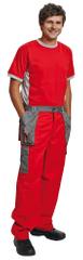 Max Evolution pánské tenké pracovní kalhoty do pása červená/šedá 52