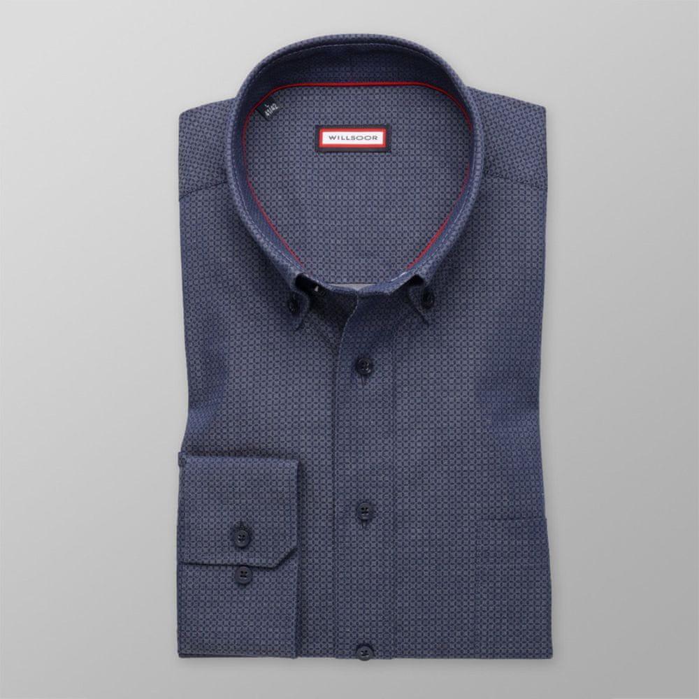 Willsoor Pánská klasická košile 8335 v šedé barvě s úpravou easy care