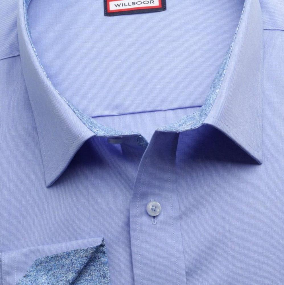 Willsoor Pánská klasická košile 6971 v modré barvě s formulí Easy Care