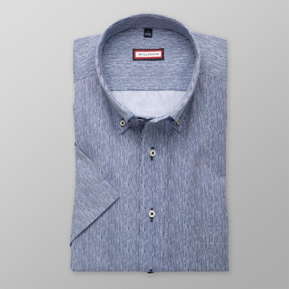 Willsoor Pánská slim fit košile 8061 v modré barvě s úpravou easy care