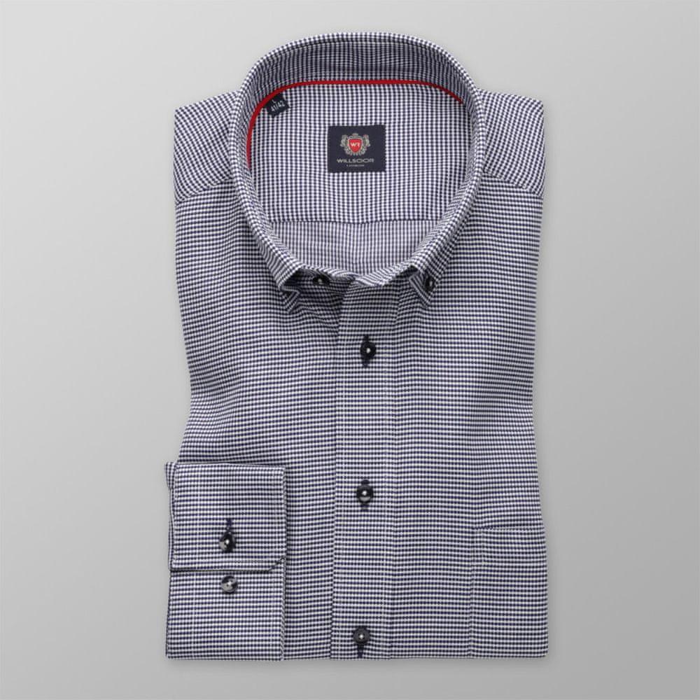 Willsoor Pánská klasická košile London 8590 se vzorem a úpravou easy care