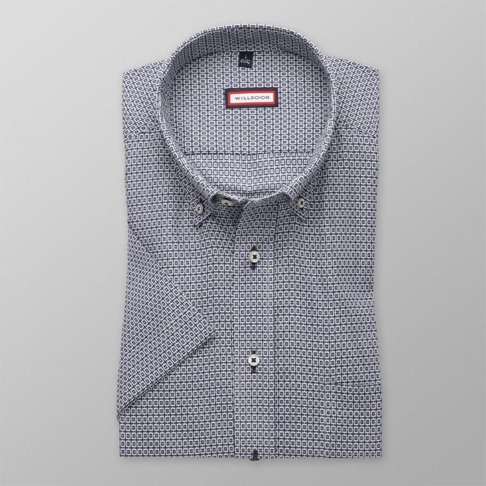 Willsoor Pánská slim fit košile 8063 v modré barvě s úpravou easy care