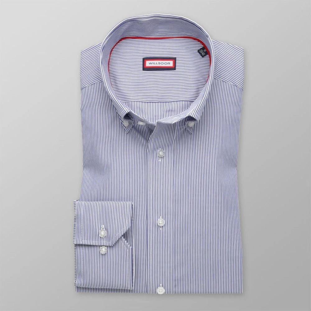 Willsoor Pánská slim fit košile 8548 s proužky a úpravou easy care