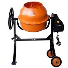 Max Stavební míchačka 125 L s ocelovým ozubením oranžová