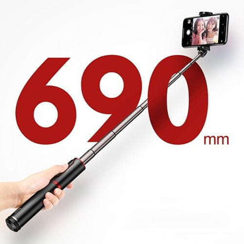 BASEUS Fully Folding Selfie Stick SUDYZP-D1S, czarny/srebrny