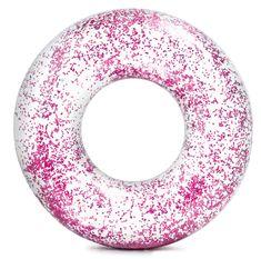 Intex 56274 Kruh plovací flitrový růžový