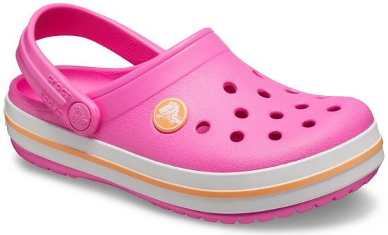Crocs Crocband Clog K dekliški natikači Electric Pink/Cantaloupe 204537-6QZ