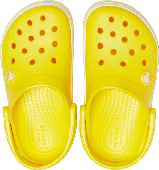 Crocs Crocband Clog K otroški natikači Lemon 204537-7C1