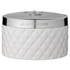 Lene Bjerre Alacsony fürdőszoba edény fedéllel PORTIA fehér ezüst fedéllel