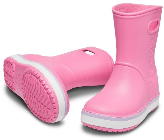 Crocs Crocband Rain Boot K Pink Lemonade/Lavender 205827-6QM