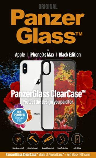 PanzerGlass ClearCase az Apple iPhone Xs Max mobiltelefonra, Black Edition 0221