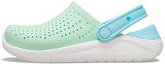 Crocs buty dziewczęce LiteRide Clog K Neo Mint/White 205964-3TM-C13 30-31 zielone