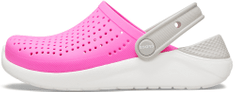 Crocs LiteRide Clog K Electric Pink/White 205964-6QR-C13, 30-31, rózsaszín