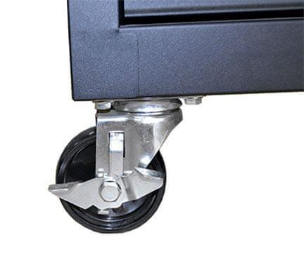 JBM delavniški voziček z orodjem, 6 predalov, črn