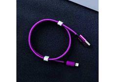 Symfony B1T micro USB-B kabel 1m, textil fialová