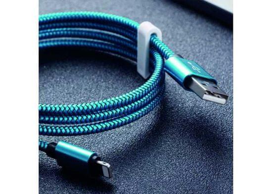 Symfony C3T mikro USB-C kabel 3m, textil modrá