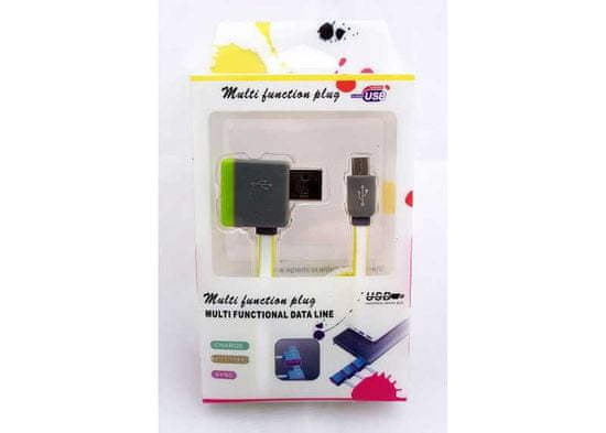 Symfony Multifunkční USB kabel s výstupem na další USB 1m zelený