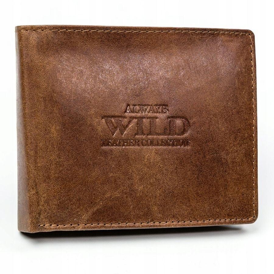 Always Wild Pánská kožená peněženka Keny, koňaková