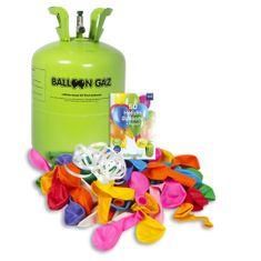 HELIUM DO BALÓNKŮ BALLOONGAZ - jednorázová nádoba 420 l + 50 latexových balónků