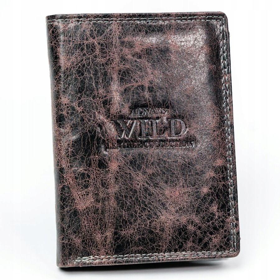 Always Wild Pánská kožená peněženka Ivan, černá