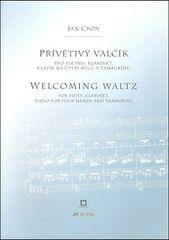 Jan Cron: Přívětivý valčík - pro flétnu, klarinet, klavír na čtyři ruce a tamburínu