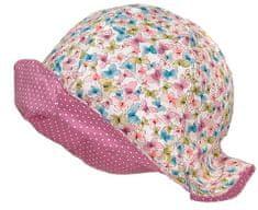 Maximo dívčí oboustranný klobouček 53 růžová/modrá