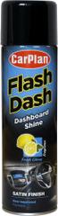 CarPlan Flash Dash sprej za armaturno ploščo (brez silikona), mat, citrusi, 500 ml