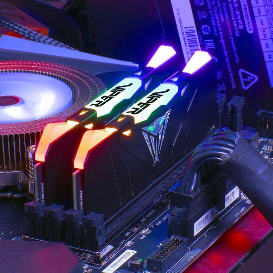 Patriot Viper RGB memorija (RAM), 16 GB (2x 8 GB), DDR4, 3200 DIMM (PVR416G320C6K)