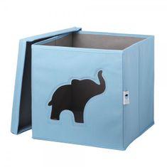 Love It Store It Úložný box na hračky s krytom a okienkom - slon
