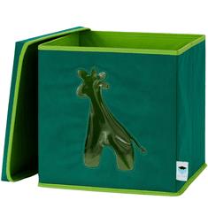 Love It Store It Úložný box na hračky s krytem a okénkem - žirafa