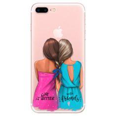 Silikónové puzdro - Best Friends pre Apple iPhone 7 Plus / 8 Plus