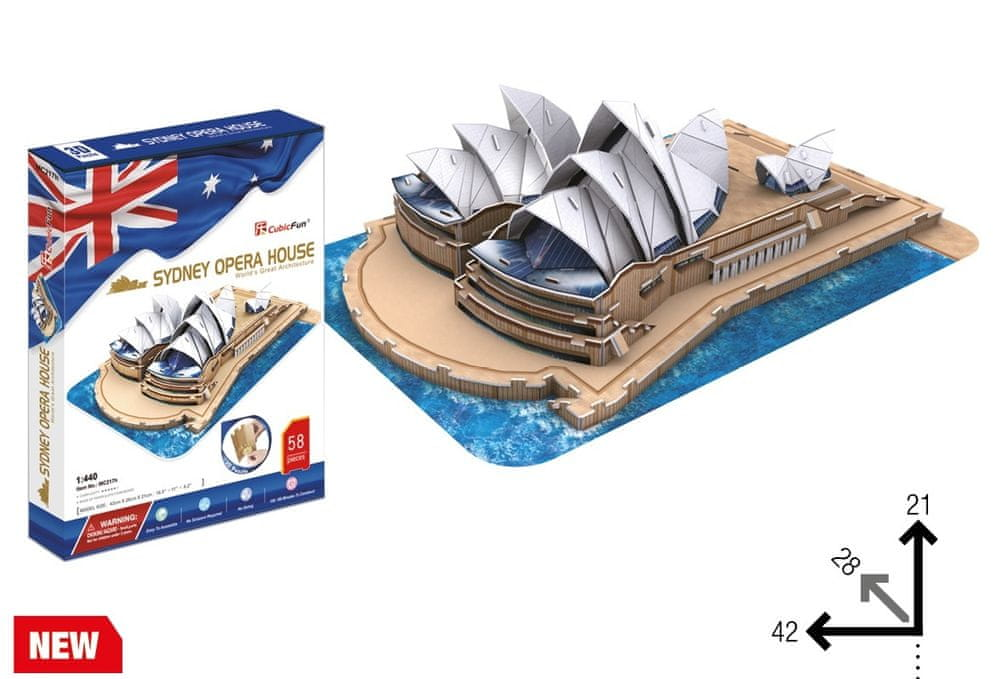 CubicFun 3D Jigsaw Puzzle - Sydney Opera House (Difficulty: 4/6)