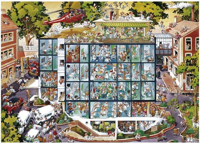 Heye Puzzle 2000 dílků Jigsaw Puzzle - 2000 dílků - Wolf : Emergency