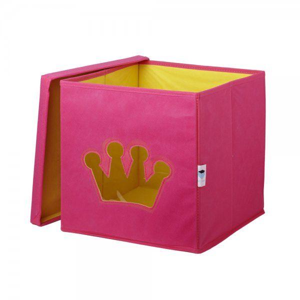 Love It Store It Úložný box na hračky s krytem a okénkem - koruna