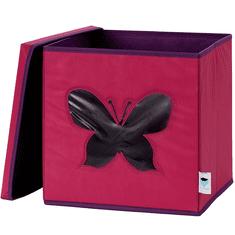Love It Store It Úložný box na hračky s krytom a okienkom - motýľ