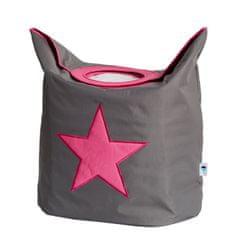 Love It Store It Box na prádlo - šedý, růžová hvězda