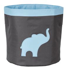 Love It Store It Veľký úložný box na hračky, okrúhly - šedý, modrý slon