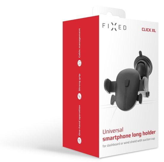 FIXED Univerzálny držiak Click XL s dlhou prísavkou na sklo alebo palubnú dosku (FIXH-CLI-XL)