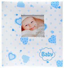 KPH Dětské fotoalbum Lovely hearts modré
