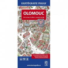 Olomouc Historické centrum - Kreslený plán