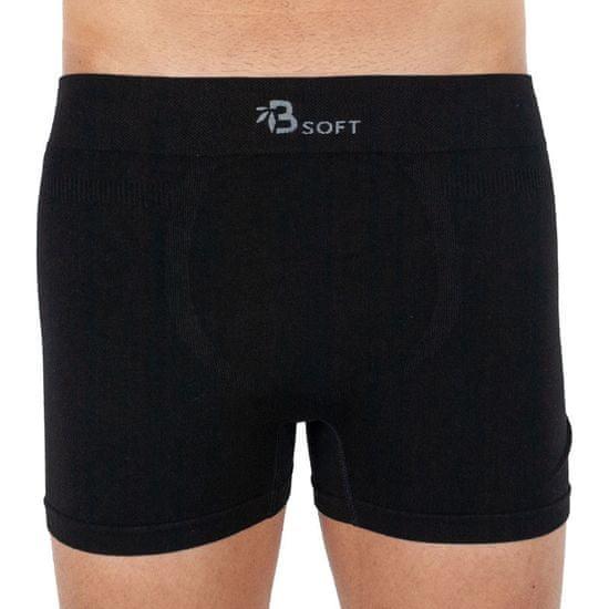 Gino Pánské boxerky bambusové bezešvé černé (54006)