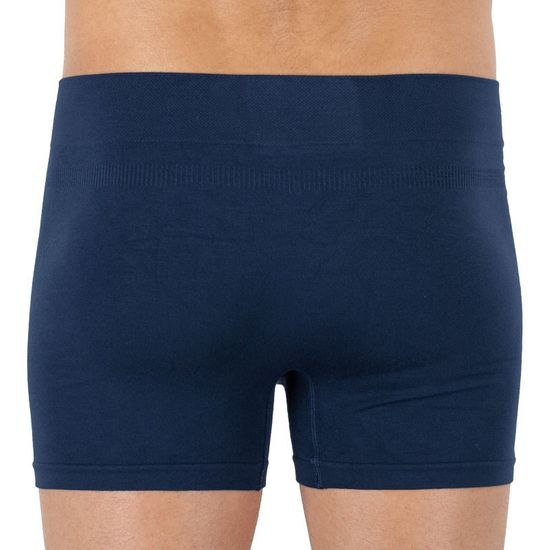 Gino Pánské boxerky bambusové bezešvé modré (54006)