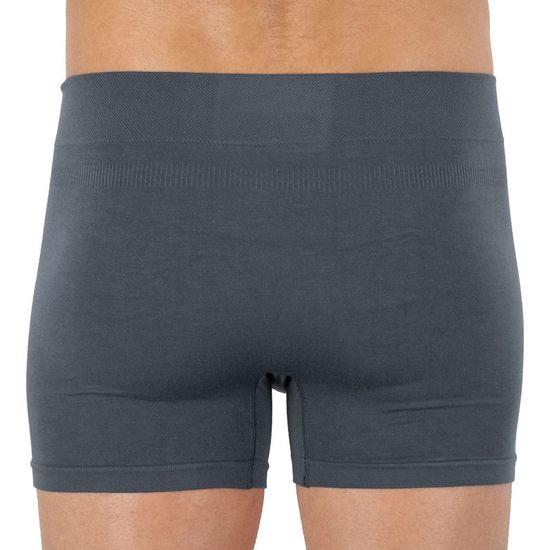 Gino Pánské boxerky bambusové bezešvé šedé (54006)