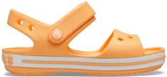 Crocs Crocband Sandal Kids Cantaloupe 12856-801 dekliški sandali, oranžni, 34–35