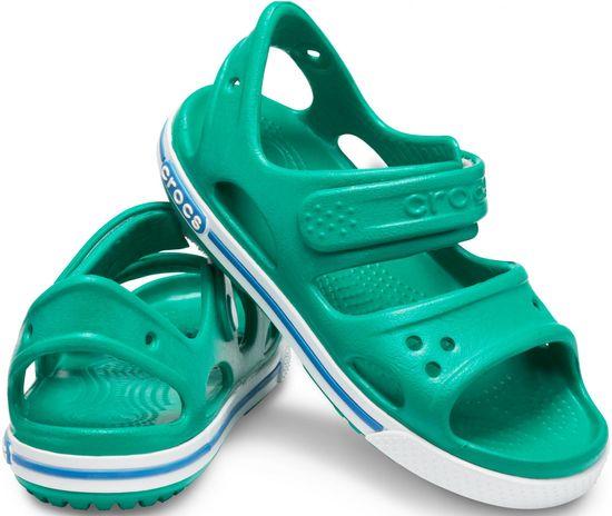 Crocs sandały chłopięce Crocband II Sandal PS Deep Green/Prep Blue 14854-3TV