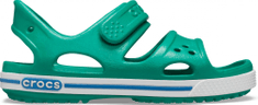 Crocs Fiú Crocband II Sandal PS Deep Green/Prep Blue 14854-3TV 33 -34, zöld